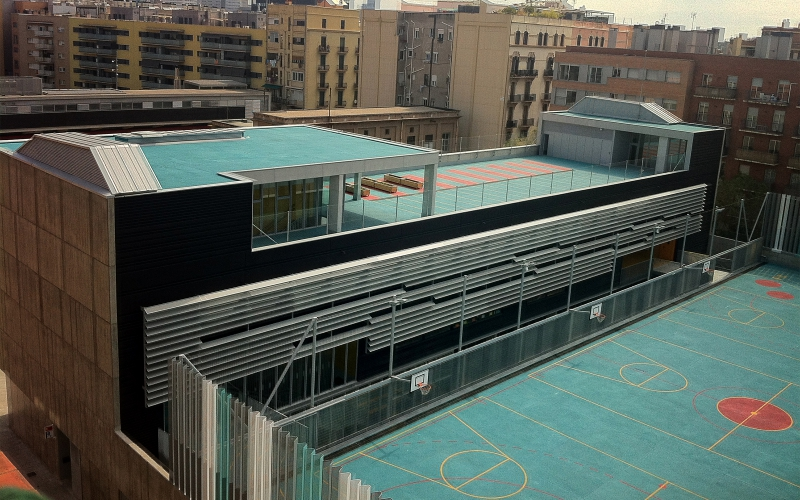 CONSTRUCTION OF THE CEIP SANT MARTÍ IN BARCELONA